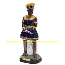 Escultura Orixa Africano Ogum Linda Imagem 60cm Fabrica