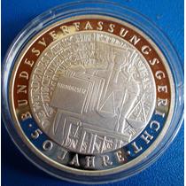 Alemanha-moeda Prata-10 Euros-2001-comemorativa 50 Anos