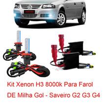 Kit Xenon H3 8000k Para Farol Milha Gol - Saveiro G2 G3 G4 ¿