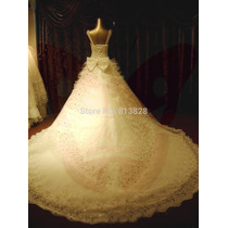 Vestido Noiva Cristal Cintilante Luxo