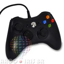 Controle Joystick Feir Usb Com Fio Xbox 360 Pc Preto Branco