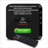Aparelho Receptor Smart Tv Box 4k Ultra Wi-fi Sem Antena