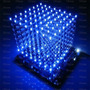 Cubo Led 3d 8x8x8 Azul Monte Vc Mesmo Arduino
