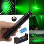 Laser Pointer Military 5mw 532nm + Bateria + Carregador