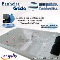 Banheira Dupla Completa Com Hidro+aquecedor+cromoterapia