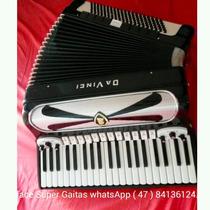 Acordeon Da Vinci 4l5 Cg20c Duplo Cassoto Top Vozes Binci !
