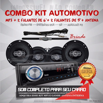 Kit Automotivo Multilaser Mp3+ 2 Falantes 6