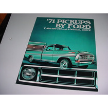 Folder Ford F100 F-100 Pickup Picape Furgao 71 1971 V8 F 100