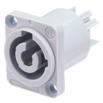 Conector Powercon Femea Para Saída De Energia Com 3 Polos.