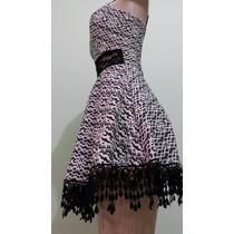 Vestido Feminino Crochê Baile Funk Renda Festa Babado Rodado