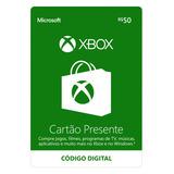 Cartão Presente Xbox R$50 - Código Digital Oficial Brasil