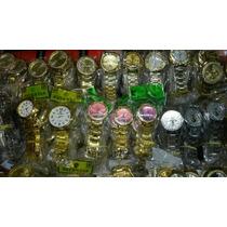 Kit Com 10 Relógios Atacado Dourados E Prata Bronze Revenda