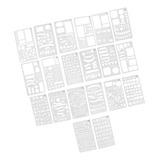 20x Jornal Stencil Plástico Desenho Modelo Stencils Para Di