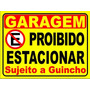 2 Placas Ps 2mm 20x30 Cm Proibido Estacionar