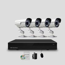 Kit Segurança Cftv Dvr Stand Alone 8 Canais, 4 Câmeras Infra