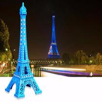 Miniatura Torre Eiffel Paris Metal Colorida C/ Strass 18 Cm
