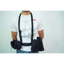 Kit Porta Lentes E Suspensórios Compativel Canon Nikon Sigma