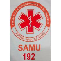 Camiseta Branca Samu + Nome E Grupo Sanguíneo Personalizado