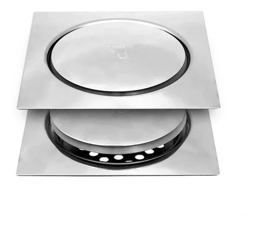 5 Ralo Inteligente Sistema Clic 15x15 Aço Inox Para Banheiro