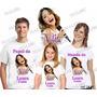 Kit Camisetas Personalizada Aniversario Violetta Com 3