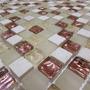 Pastilha De Vidro Com Mármore Promoção Caixa 11 Placas 1m²