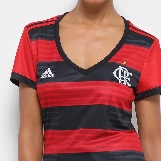 9a9ead76b7 Nova Camiseta Flamengo Feminina 2018   2019 Frete Grátis em ...