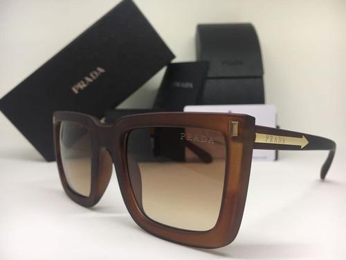 9520ecc841e55 Oculos De Sol Feminino Prada Original Quadrado Frete Gratis