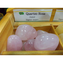 Pedra Do Signo Touro - Quartzo Rosa Natural Rolada / 2cm
