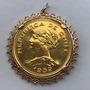 Moeda Chilena Pingente Ouro 23k Peso: 24.6 Gr
