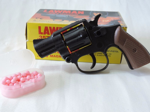 Arma De Brinquedo Rambo Lawman + 2 Cart. Espoletas E 70 Bbs