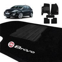 Tapete Fiat Bravo 2011/2012/2013/2014/2015 Carpete Preto