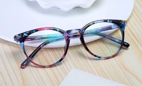545ba33576566 Armação Óculos Vitally ( Azul Floral ) - R  59 en Melinterest