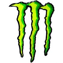 Adesivo Resinado Monster Gg Verde Degrede Borda Preta