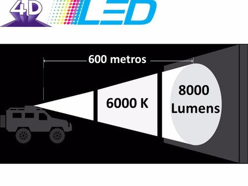 Kit Lampada Super Led 4d H1 H3 H7 Hb3 Hb4 H16 Com Canbus