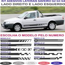 Acessorios Vw Saveiro G2 G3 G4 Adesivo Lateral Kit