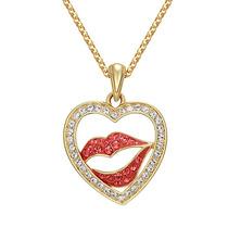 Pingente Swarovski Beijo Apaixonado Ouro 18k