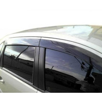 Defletor Calha De Chuva Fiesta Hatch Sedan Design Esportivo