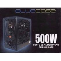 Fonte Atx 500 Watts Reais 24 Pinos Pci E Original 500w Real
