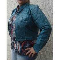 Bolero De Couro Legitimo Feminina Em Retalhos. Jaqueta Couro