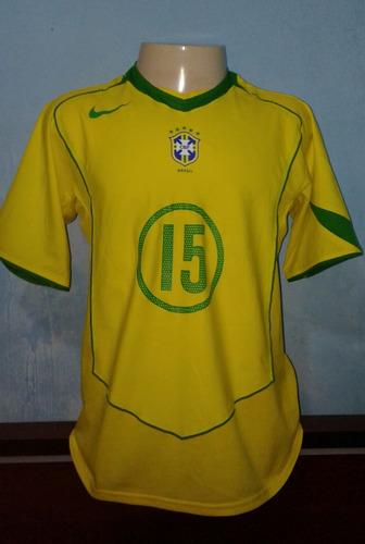 934ddd70e4 Camisa Selecao Brasileira Nike 2004-2005 De Jogo - G.silva