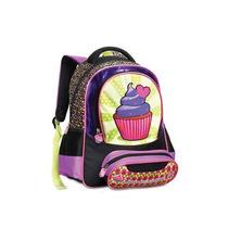 Mochila Infantil Feminina 15pol Cupcake - Seanite