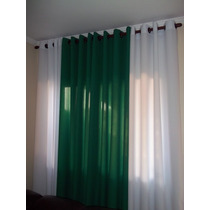 Cortinas Com Ilhós Bicolor 560 M X 260 M Sala Quarto Decor