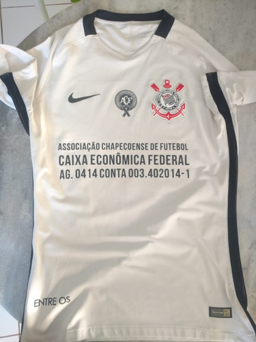 78c9ba449 Camisa Do Corinthians Nike Jogador Jogo Chapecoense Brasil