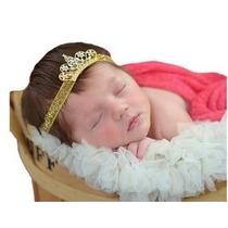 Faixa Cabelo Bebê Tiara Coroa Prata Dourada Vários Modelos