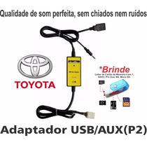 Adaptador Usb Corolla Toyota Hilux Interface Cabo Pen Drive