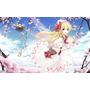 Painel Em Lona Anime Menina  3,00 X 1,70mts