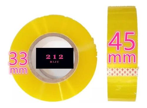 Kit 10 Fita Larga 500m Transparente Embalar Caixa Atacado Nf