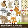 Kit Digital Ppp Animais Bosque Floresta Imagens Clipart