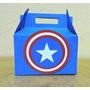 10 Caixinhas Personalizadas P/ Lembrancinha -capitão América