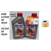 Kit Troca Oleo Filtro Xre 300 Cb 300 Mobil 10w30 Autentic